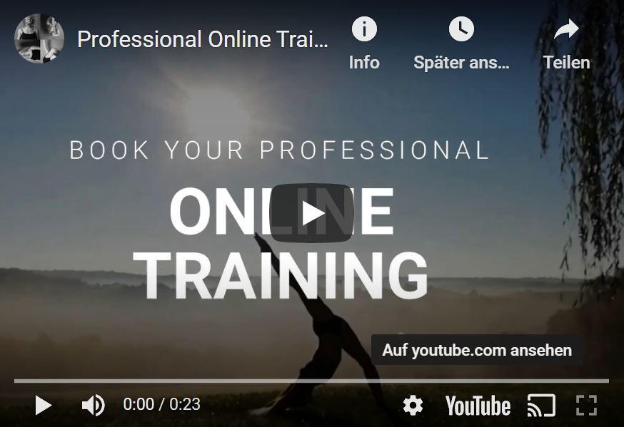 Online Training von Anna Herkt auf YouTube
